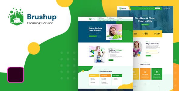 Brushup - Cleaning Service Company HTML5 Template