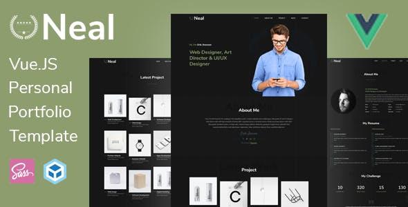 Neal - Vue JS Personal Portfolio Template