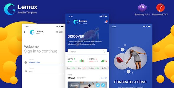 Lemux Network Mobile UX UI News and Magazine HTML Template