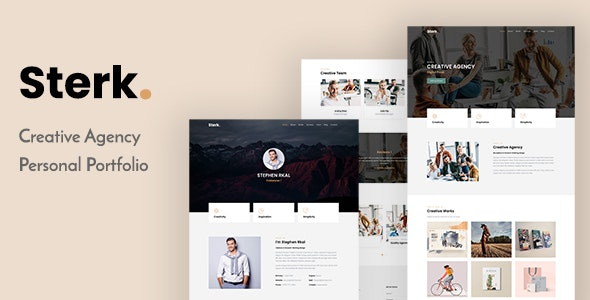Sterk - Creative Agency & Personal Template - Creative Site Templates