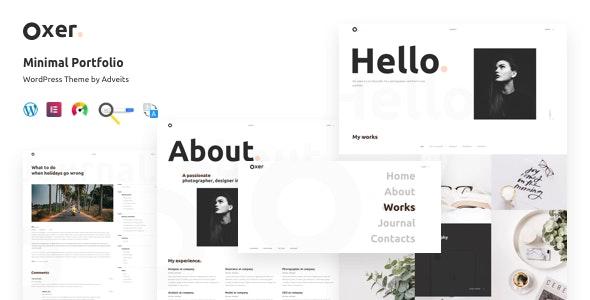 Oxer Minimal Portfolio Wordpress Theme By Adveits Themeforest