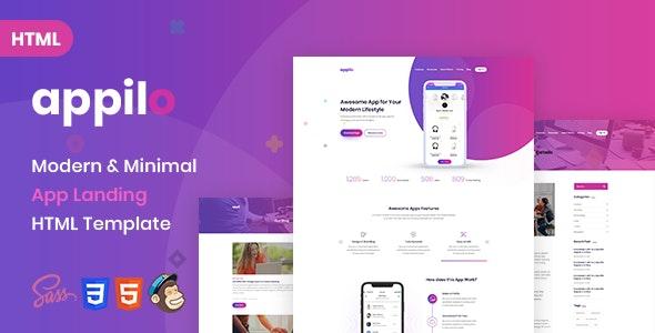 Appilo - App landing page - Technology Site Templates