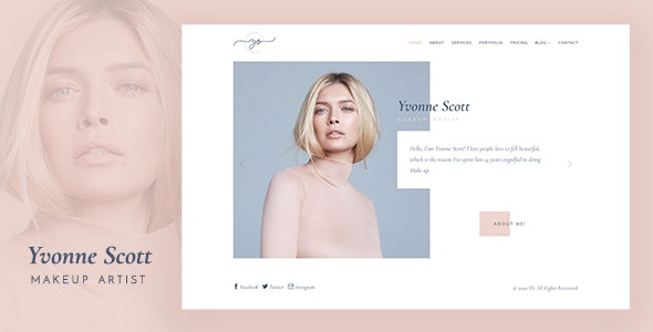 YS - Makeup Artist, Model & Beauty Bootstrap Template - Health & Beauty Retail