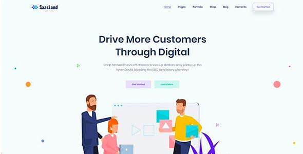 SaasLand - Creative HTML5 Template for Saas, Startup & Agency