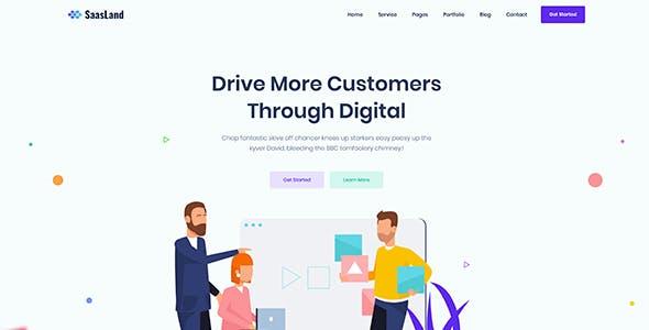 Saasland - MultiPurpose React Template For Startup Business
