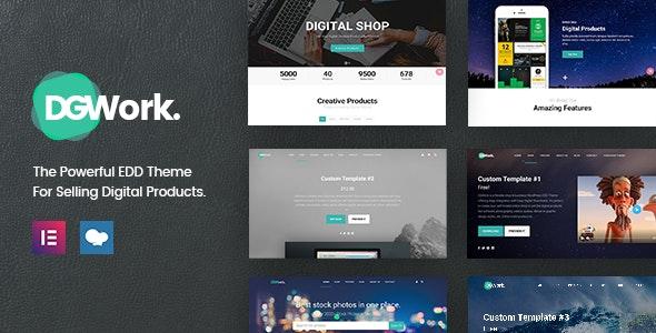 DGWork - Responsive Digital Shop & Market Easy Digital Downloads Theme - Business Corporate