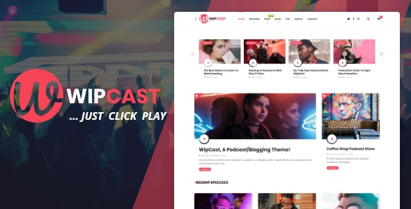 Download WipCast - A Podcast / Blogging WordPress Theme