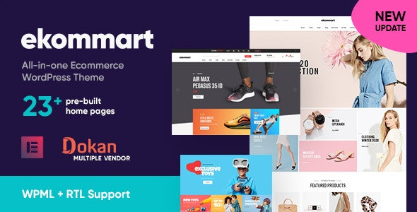 Ekommart All In One Ecommerce Wordpress Theme By Opal Wp Themeforest