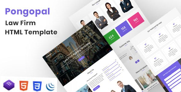 Pongopal - Law Firm / Agency HTML Template