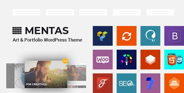 Mental — Art & Portfolio WordPress Theme - Portfolio Creative