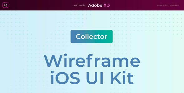 Collector – Mobile Wireframe UI Kit for AdobeXD