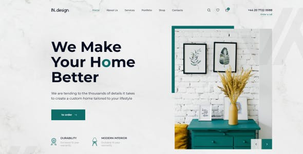 Mint - Interior Design PSD Template