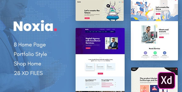 Noxia - Creative Multipurpose Business XD Template - Creative Adobe XD