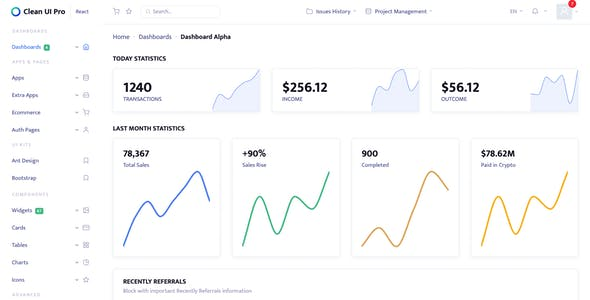 Clean UI Pro Vue — Modular Multi Concept Admin Template