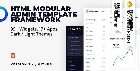 Clean UI Pro Html — Modular Multi Concept Admin Template - Admin Templates Site Templates