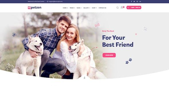 Petzen - Pet Care Shop WordPress Theme