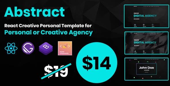 Download Abstract - React Creative Agency Personal Portfolio/Landing Template