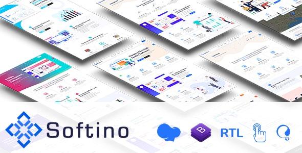 Softino - Multipurpose Software Landing Page WordPress Theme - Software Technology