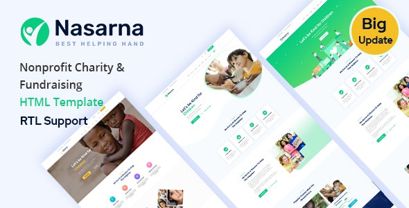 Nasarna - Charity Nonprofit HTML5 Template - Charity Nonprofit