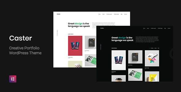 Download Caster - Creative Portfolio WordPress Theme