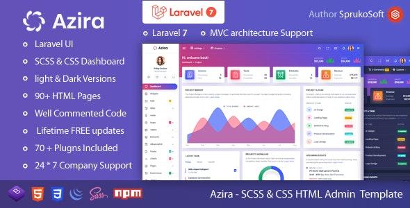 Azira – PHP Laravel Admin Template - Admin Templates Site Templates