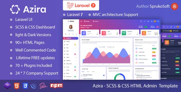 Download Azira – PHP Laravel Admin Template