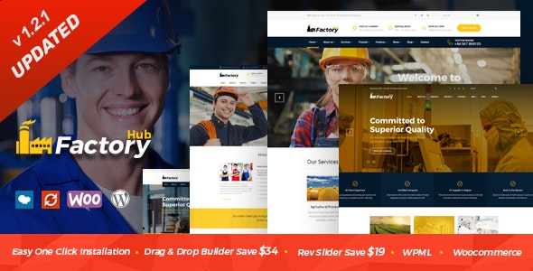 Factory HUB - Industry and Construction WordPress Theme - Business Corporate