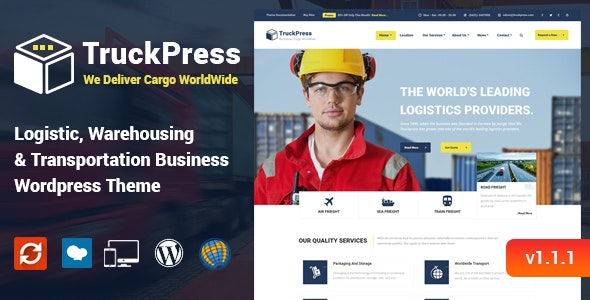 TruckPress - Logistics & Transportation WP Theme - Business Corporate