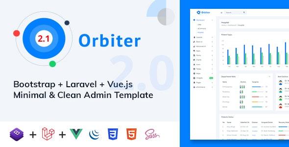 Orbiter - Bootstrap + Laravel + Vue Minimal & Clean Admin Template - Admin Templates Site Templates
