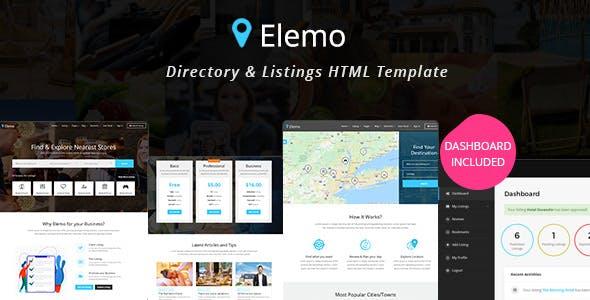 Elemo - Directory & Listings HTML Template