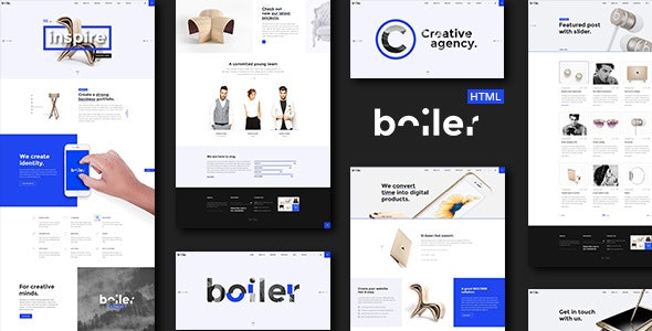Boiler - Creative Agency HTML5 & CSS3 Template - Creative Site Templates
