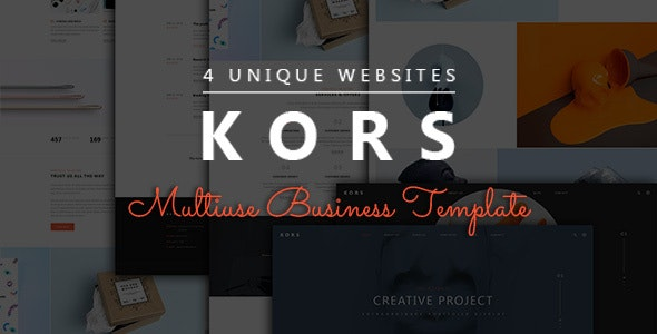 Kors - Multiuse Pack Business Template - Business Corporate