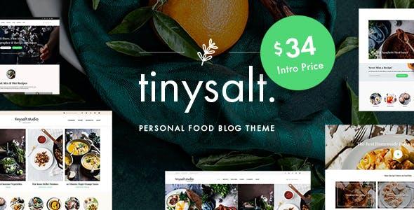 tinysalt yemek blog wordpress teması