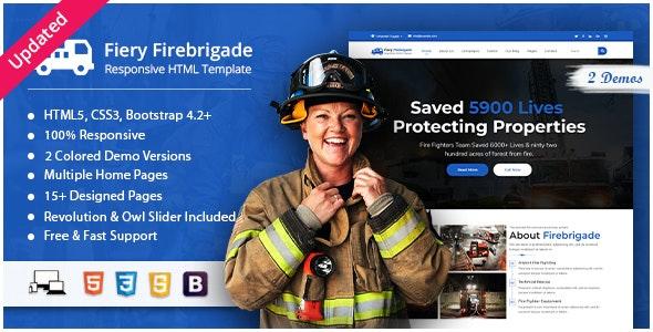 Fiery - Fire Brigade Responsive HTML Template - Nonprofit Site Templates