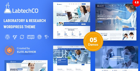LabtechCO | Laboratory & Science Research WordPress Theme - Business Corporate