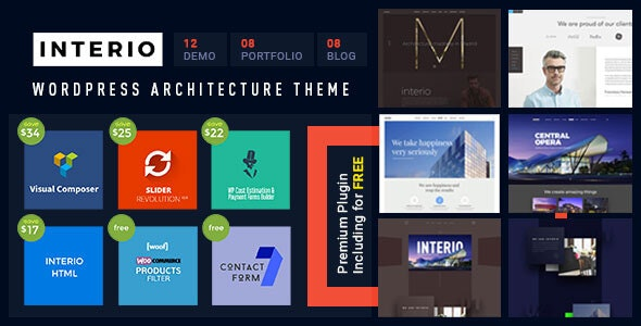 Interio — Architecture WordPress Theme - Portfolio Creative