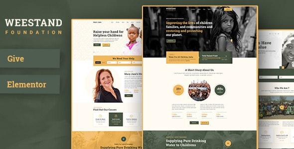 Weestand – Nonprofit, Charity, NGO Fundraising WordPress Theme - Charity Nonprofit