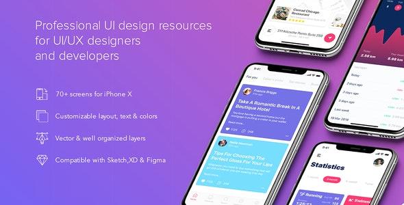PRISMA - Mobile UI Kit for Figma - Figma UI Templates