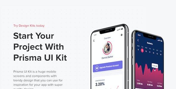 PRISMA - Mobile UI Kit for Figma