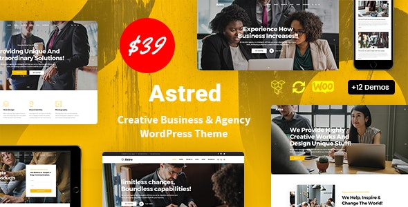 Astred - Modern Multi-Purpose WordPress Theme - Business Corporate