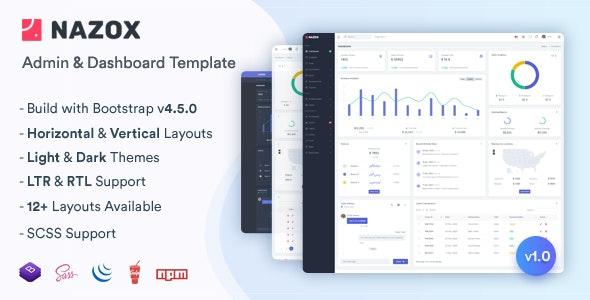 Nazox - Admin & Dashboard Template - Admin Templates Site Templates