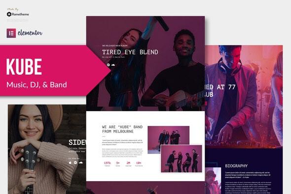Kube - Music Elementor Template Kit - Music & Bands Elementor