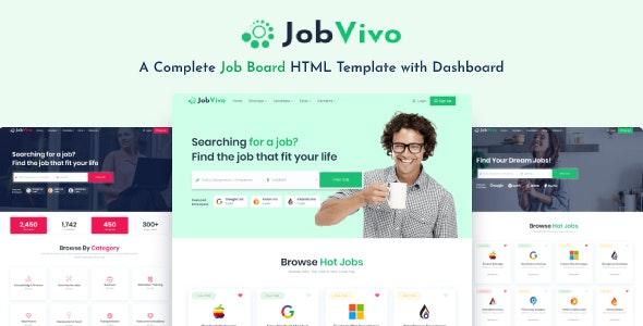 Jobvivo - Responsive Job Board HTML Template - Business Corporate