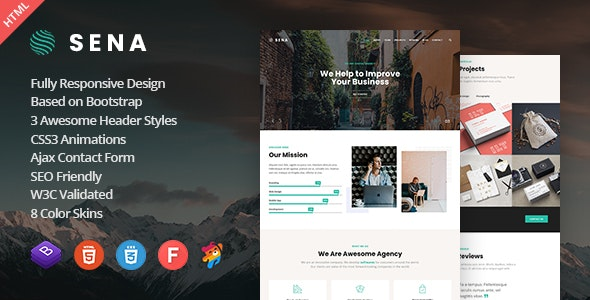 Sena - Responsive One Page Parallax Template - Creative Site Templates