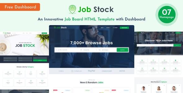 Job Stock - Job Board Template - Business Corporate