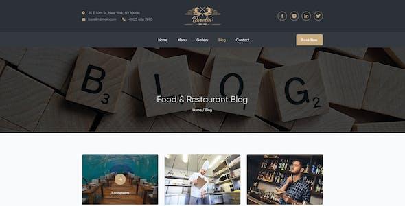 Barelin Restaurant PSD Templates