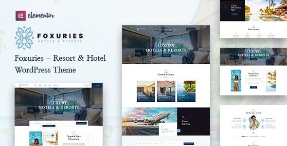 Foxuries - Resort & Hotel WordPress Theme - Travel Retail