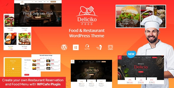 Deliciko - Restaurant WordPress Theme - Restaurants & Cafes Entertainment