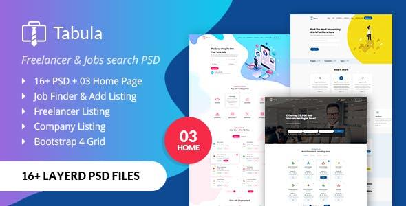 Tabula - Freelancer PSD Template