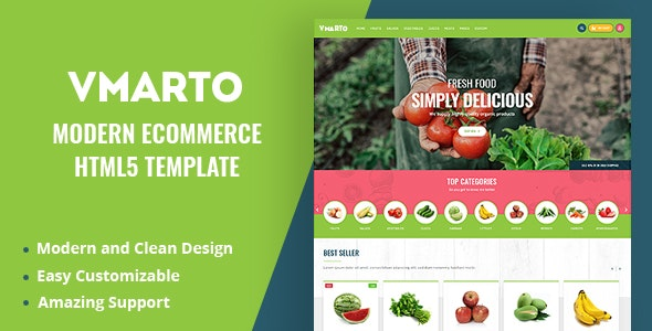 Vmarto - Responsive Ecommerce HTML5 Template - Shopping Retail